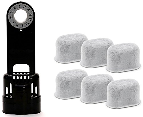 6 Pack Replacement Charcoal Water filter Cartridges with Starter Kit Combo for Keurig K-cup 10 Coffee Brewing System by iPartplusmore