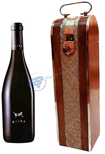 Beautiful Wooden Hand Crafted Wine Box  Whiskey Holder  Pirates Maritime Rum Case  Nagina International