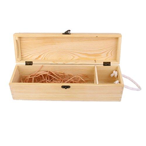 Single Bottle Wine Box Carrier Crate Case Best Gift Decor 351010cm