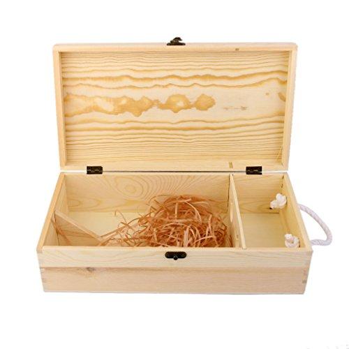 Wine Box Carrier Crate Case Best Gift Decor 351910cm Dual Bottle