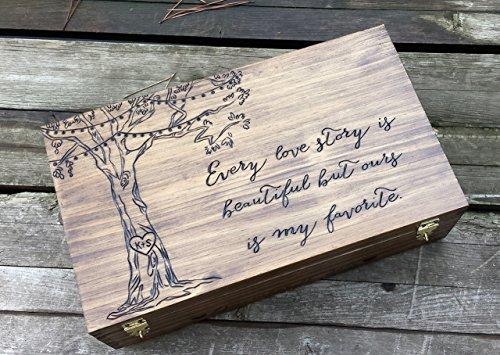 Wine box for two bottles of wine Custom wine box double wine box Personalized wine box