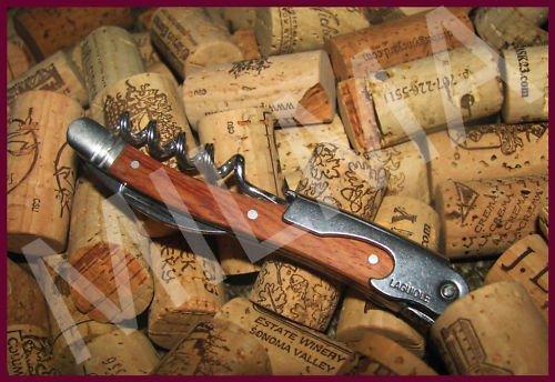 Laguiole Waiters Corkscrew - Rosewood Handle w Leather Pouch