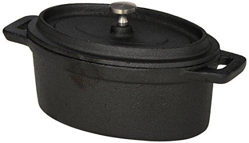 American Metalcraft CIPOV6040 Cast Iron Oval Casseroles and Pots 75 Length x 4 Width Black