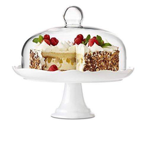 Brilliant - Bianco Pedestal Cake Plate and Dome 27cm 105 inches