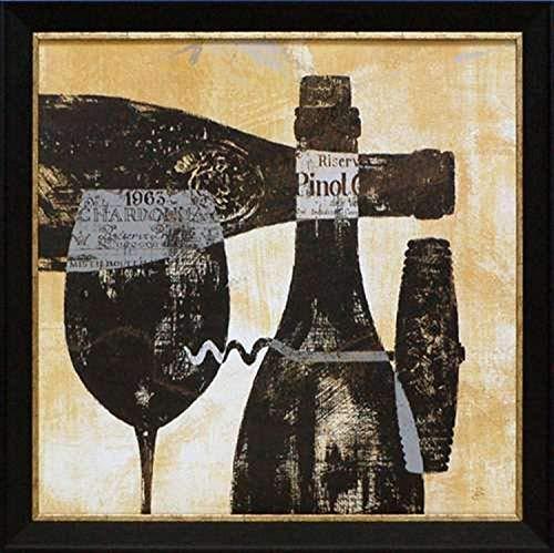 North American Art Wine Selection I Framed Art