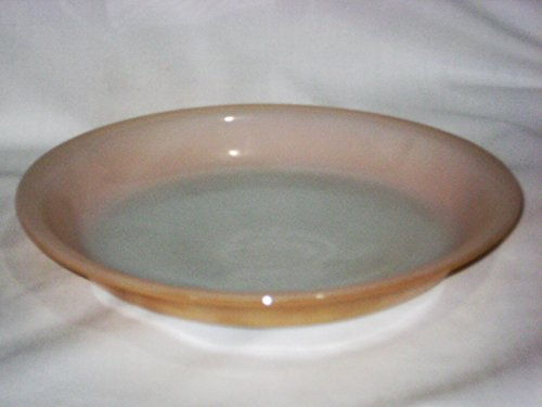 Vintage 1950s Fire King Peach Luster Lustre Glass 9 Inch Pie Plate