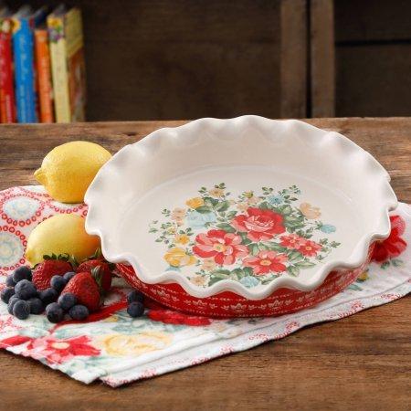 Vintage Floral 9 Pie Plate