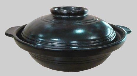 Black Casserole Clay Pot 30 oz