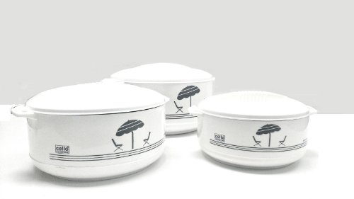 Cello 3-Piece Hot Pot Insulated Casserole Hot Pack Food Warmer Gift Set