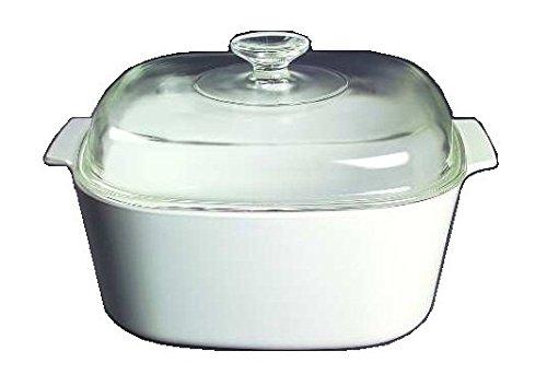 Corning Ware White Coupe Square Casserole w Lid  5 Quart   A-5-B