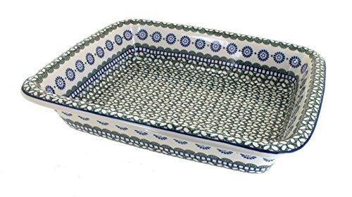Polish Pottery Maia Large Rectangular Baker