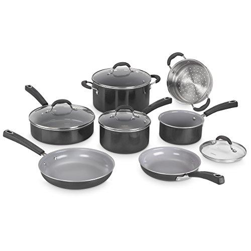 Cuisinart 54C-11BK Advantage Ceramica XT Cookware Set Medium Black