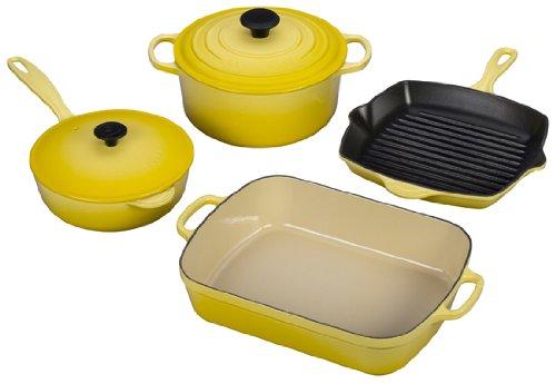 Le Creuset Signature 6-Piece Cast Iron Cookware Set Soleil