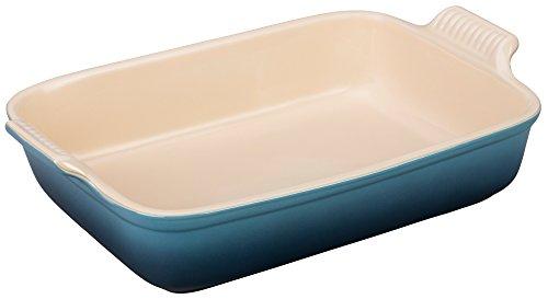 Le Creuset Heritage Stoneware 12-by-9-Inch Rectangular Dish Marine