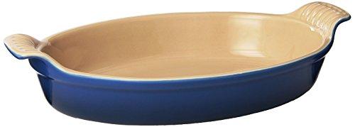 Le Creuset Heritage Stoneware Oval Au Gratin Dish 1-Quart Marseille