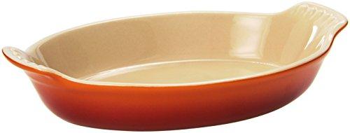 Le Creuset Heritage Stoneware Petite Oval Au Gratin Dish Flame