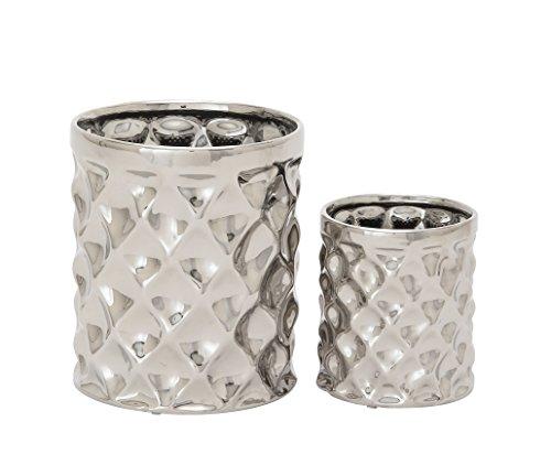 Benzara 93671 Ceramic Kitchen Utensil Holder Set of 2