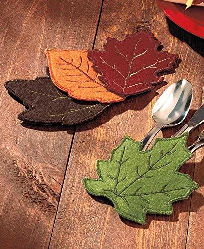 Harvest Leaves 4-Pc Utensil Holder Set