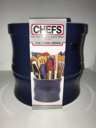 CHEFS Kitchen Tool Crock Navy Blue