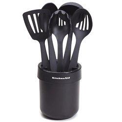 KitchenAid KAT560OB Cooks Series Ceramic Crock With Tools Set Black
