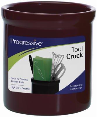 Progressive CSJC-01B 725 in High Gloss Ceramic Tool Crock - Black44 Pack Of 4