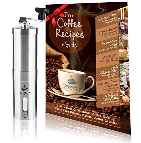 Burr Manual Coffee Bean Hand Crank Ceramic Mill Grinder. Turkish, French Press, Espresso, Bröyêur. Adjustable