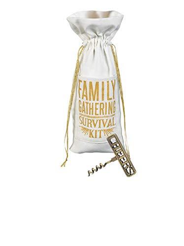 Grasslands Road Wine Bottle Bag with Corkscrew Gift Set