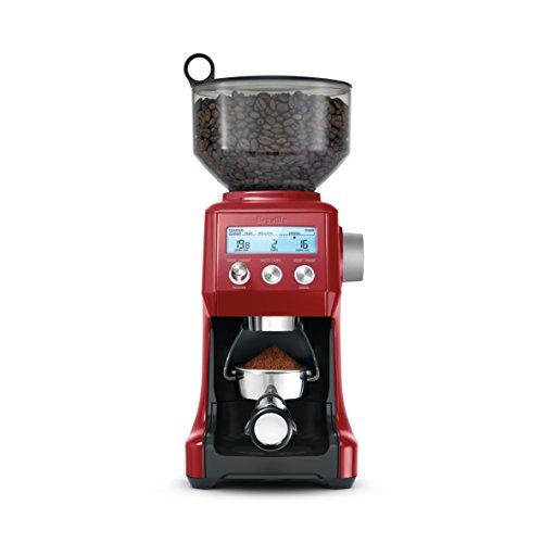 Breville Bcg820bcrnxl The Smart Grinder Pro Coffee Bean Grinder, Cranberry Red