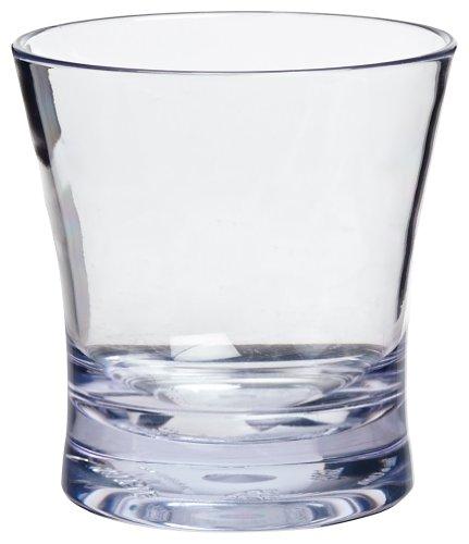 Carlisle 560907 Alibi Heavy-weight Plastic Rocks / Juice Glass, 9 Oz (set Of 24)