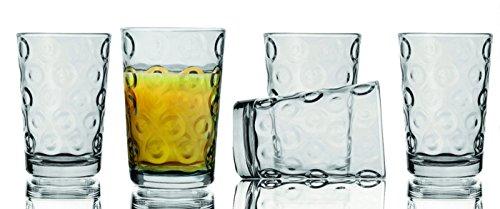 Circleware 10 Pc 7 Oz Juice Glasses Set- Circles Theme