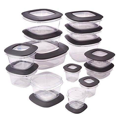 Rubbermaid Rubbermaid Premier Food Storage Containers 28-Piece Set Grey