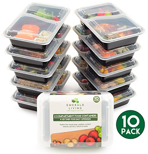 10 pack 1 Compartment BPA Free Meal Prep Containers Reusable Plastic Food Storage Containers with Lids Stackable Microwavable Freezer Dishwasher Safe Lunch Box Container Set  EBook 38 oz