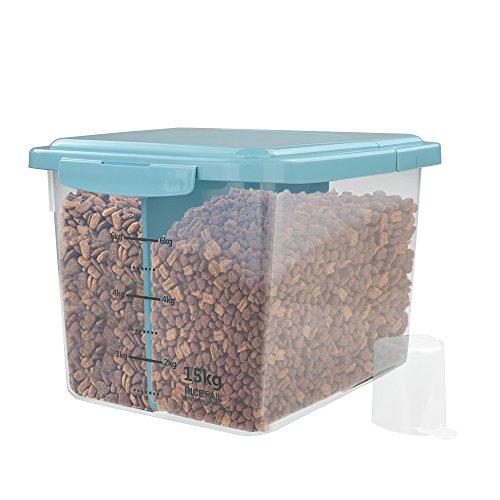 Nicesh 33-pound Airtight Pet Food Storage Container(blue)