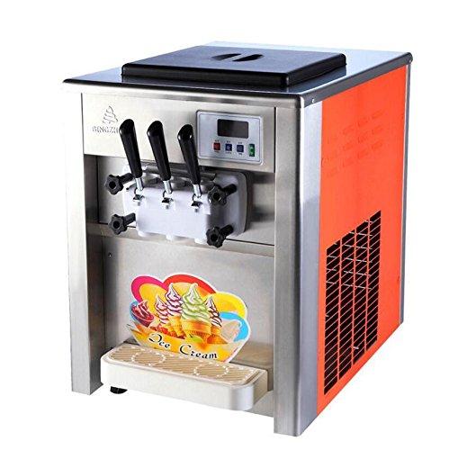 Commercial 3 Flavor Soft Ice Cream Machine Soft Ice Cream Cones Maker 220V110V 18 - 22LH 220V