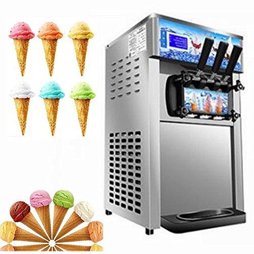Commercial Ice Cream Making Machine Electric Desktop Soft Ice Cream Maker Low Power Ice Cream Mac Gray 110V