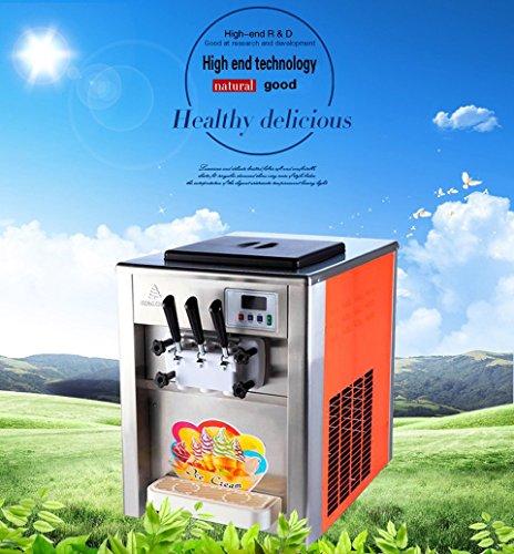 Yoli soft ice cream machine with three flavorstaibless steel ice cream making machine manual ice cream maker 110V220V