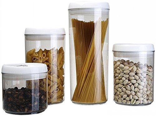 Aojia 4-piece Round Transparent Plastic Food Containers Set 04l075l075l11l Capacity QYF0227-1