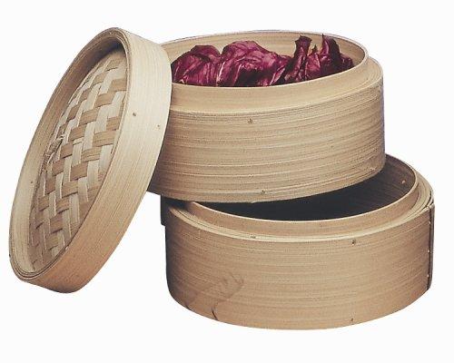 Progressive International 10-Inch Bamboo Steamer Baskets Set of 2