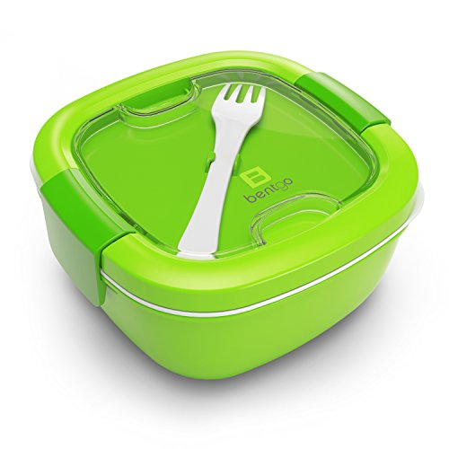 Bentgo Salad Green - Conveniently Take Salads and Other Snacks On-the-go  Eco-Friendly BPA-Free Lunch Container