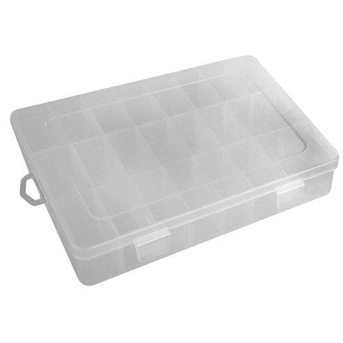 Ecloud ShopUS 2 pieces Clear Plastic Box Case Display Showcase