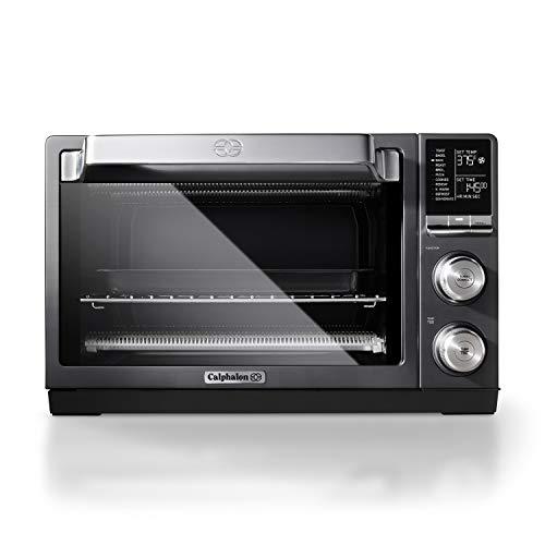 Calphalon TSCLTRDG1 Quartz Heat Countertop Toaster Oven Stainless Steel Extra-Large Capacity Black Dark Gray