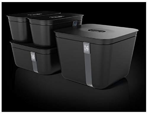 Vacuvita Vacuum Sealer Food Storage System 4-Piece Complete Container Set Black