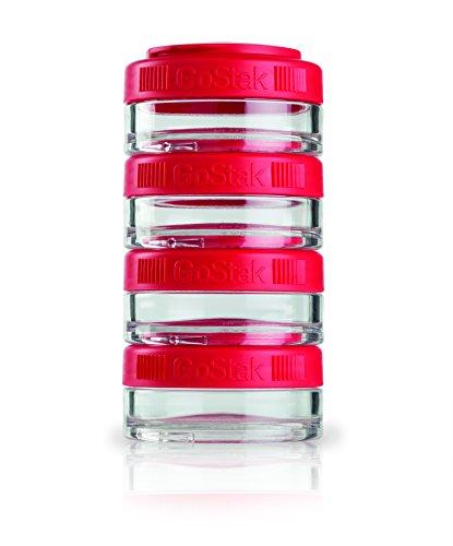 BlenderBottle GoStak Twist n Lock Storage Jars 40cc 4-Pak Red