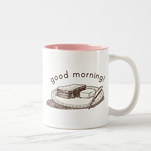 Zazzle Good Morning Toast Coffee Mug Pink Two-Tone Mug 11 oz