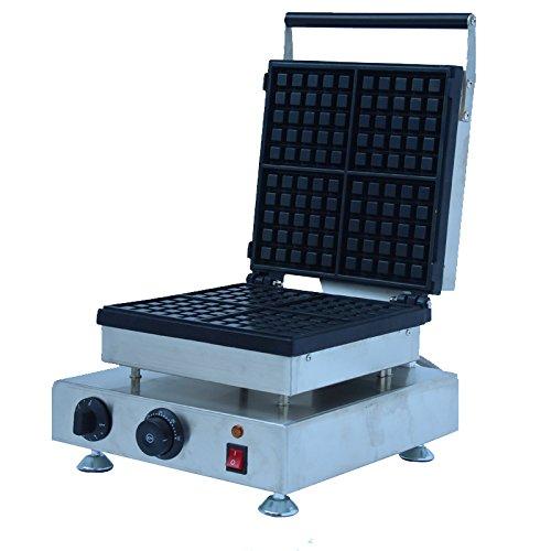 Generic Commercial Use Nonstick 110v 220v Electric 4-slice Belgian Waffle Baker