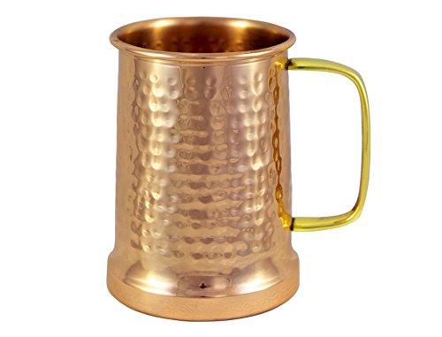 Alchemade Copper Beer Stein - 100% Pure Hammered Copper Mug - Heavy Gauge - No Lining 20oz
