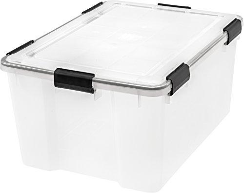 IRIS 62 Quart WEATHERTIGHT Storage Box Clear