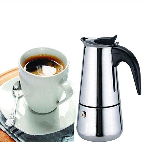 Generic 200 ML4 Cup Moka Coffee PotStainless Steel Stovetop Espresso Italian Coffee Maker Latte Percolator Stove Top Coffee Pot