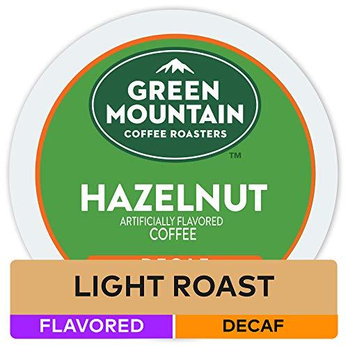 Green Mountain Coffee Hazelnut Decaf Keurig Single-Serve K Cup Pods Light Roast Coffee 48Count Hazelnut Decaf 48Count
