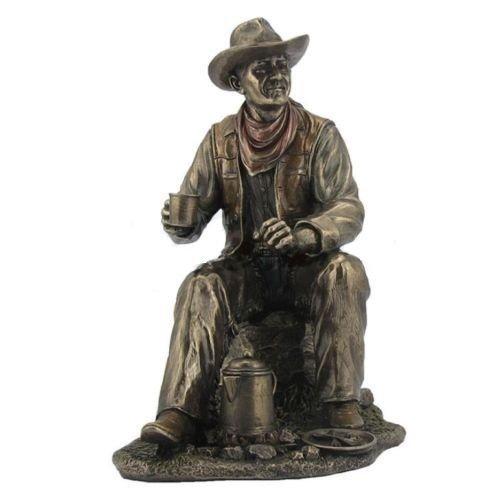 925 Cowboy Coffee Break Statue Western Figurine Country Figure